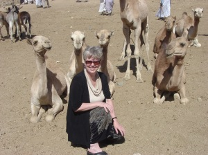 Sandra at the camel market