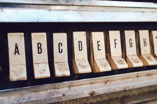 automat machine with lettered buttons