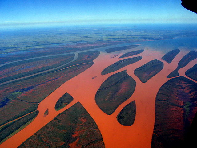red silt in the rivers of Madagascar