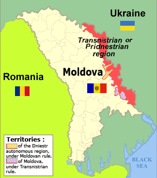Map of Transnistrian area