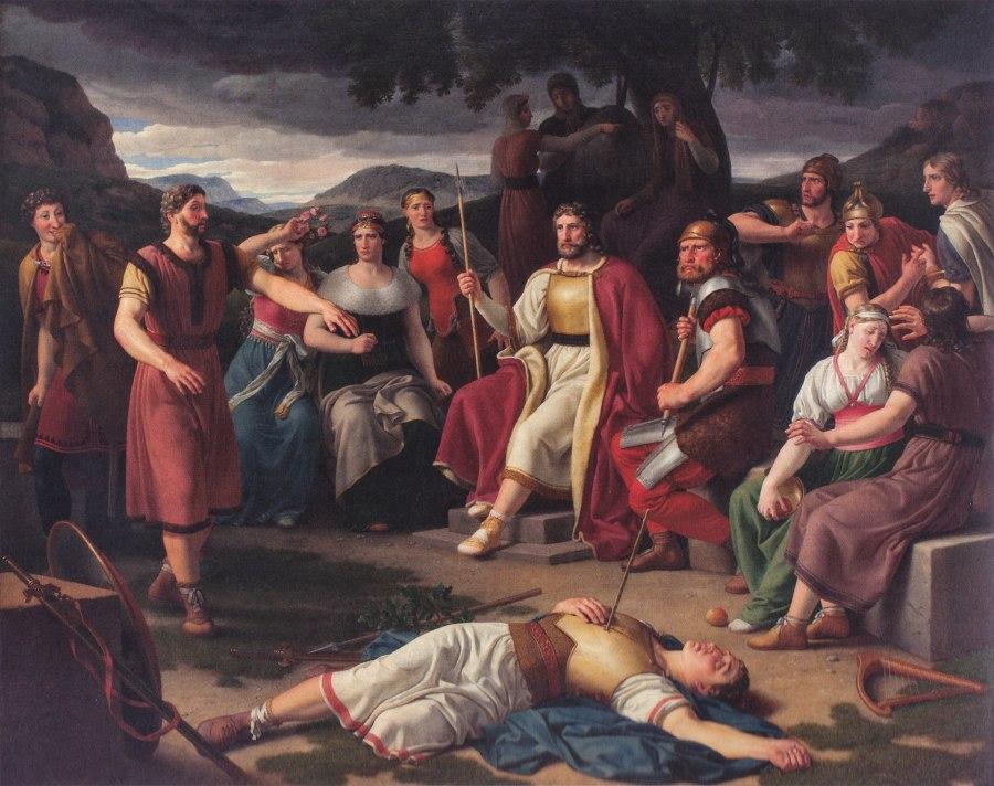 Aesir surrounding the body of Baldur