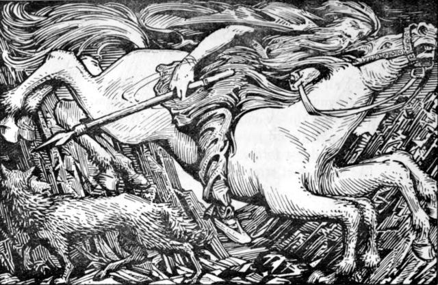 Odin rides Sleipnirt o Hel