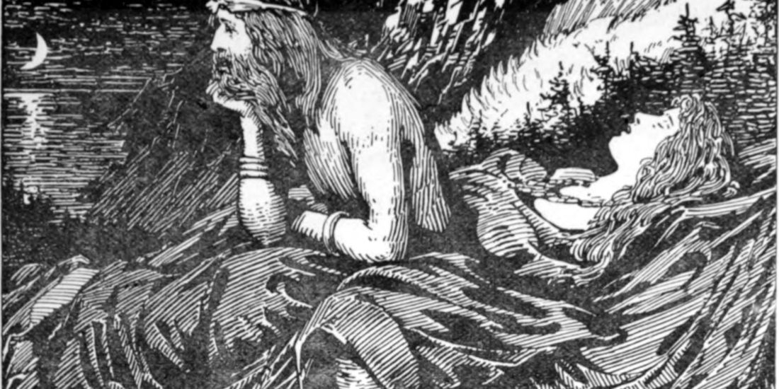 """""""Njord's Desire of the Sea"""" by W.G. Collingwood (1908)"""