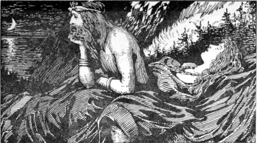 """Njord's Desire of the Sea"" by W.G. Collingwood (1908)"