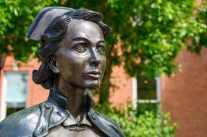 statue of a nurse